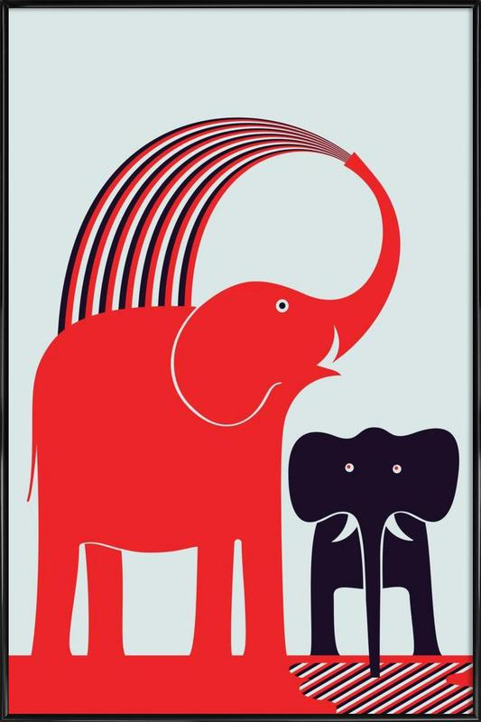Red Elephant as Poster in Standard Frame by Greg Mably | JUNIQE UK