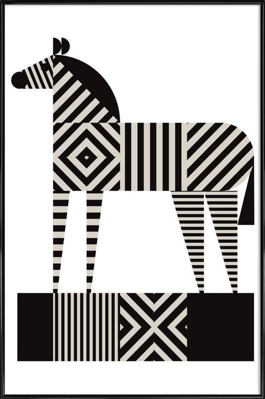 Zebra Stripe as Poster in Standard Frame by Greg Mably   JUNIQE