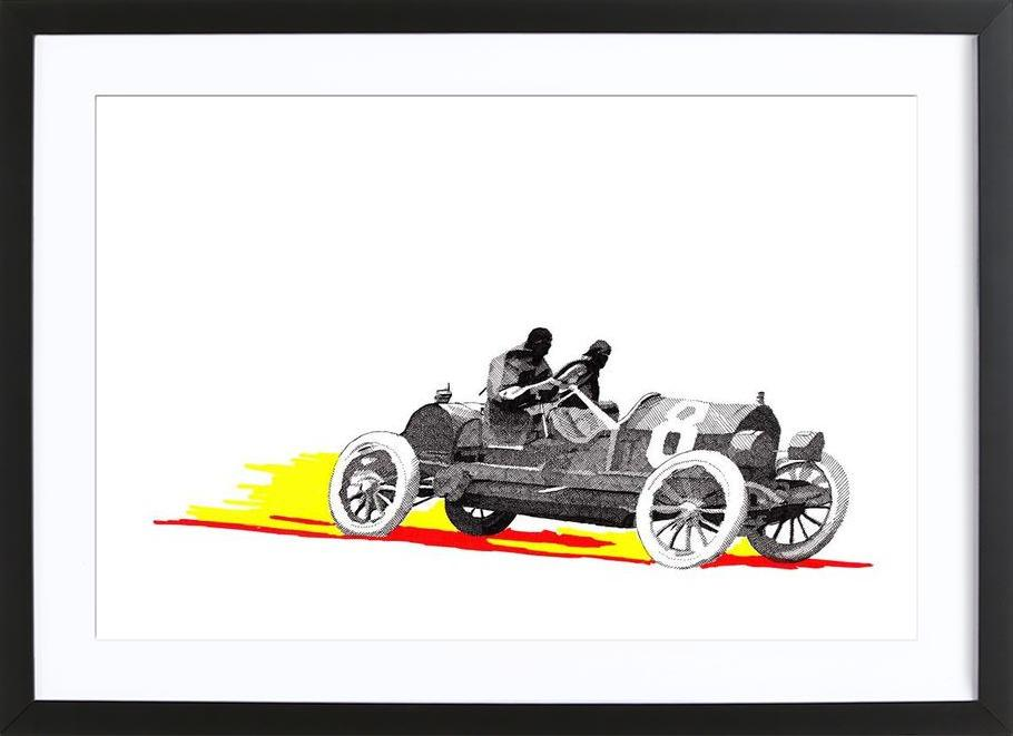 Classic Car Race 8 as Poster in Wooden Frame by RikReimert | JUNIQE