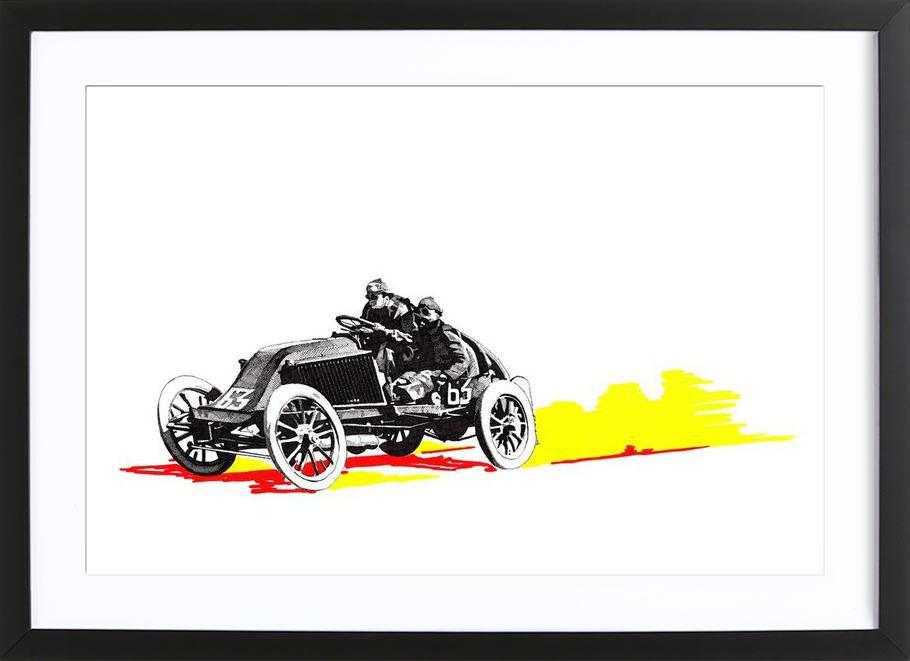 Classic Car Race 63 as Poster in Wooden Frame by RikReimert | JUNIQE