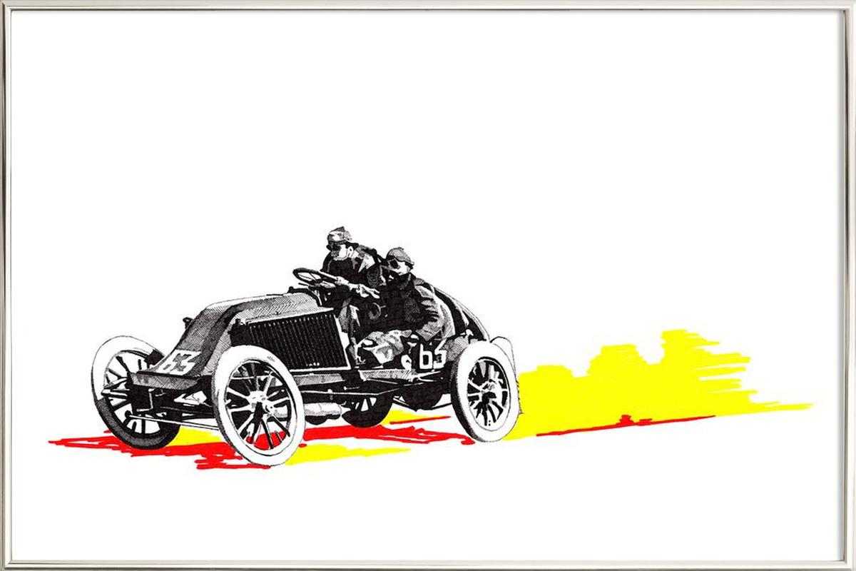 Classic Car Race 63 as Poster in Aluminium Frame | JUNIQE