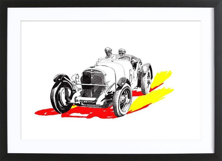 Classic Car Race 6 as Poster in Wooden Frame by RikReimert | JUNIQE