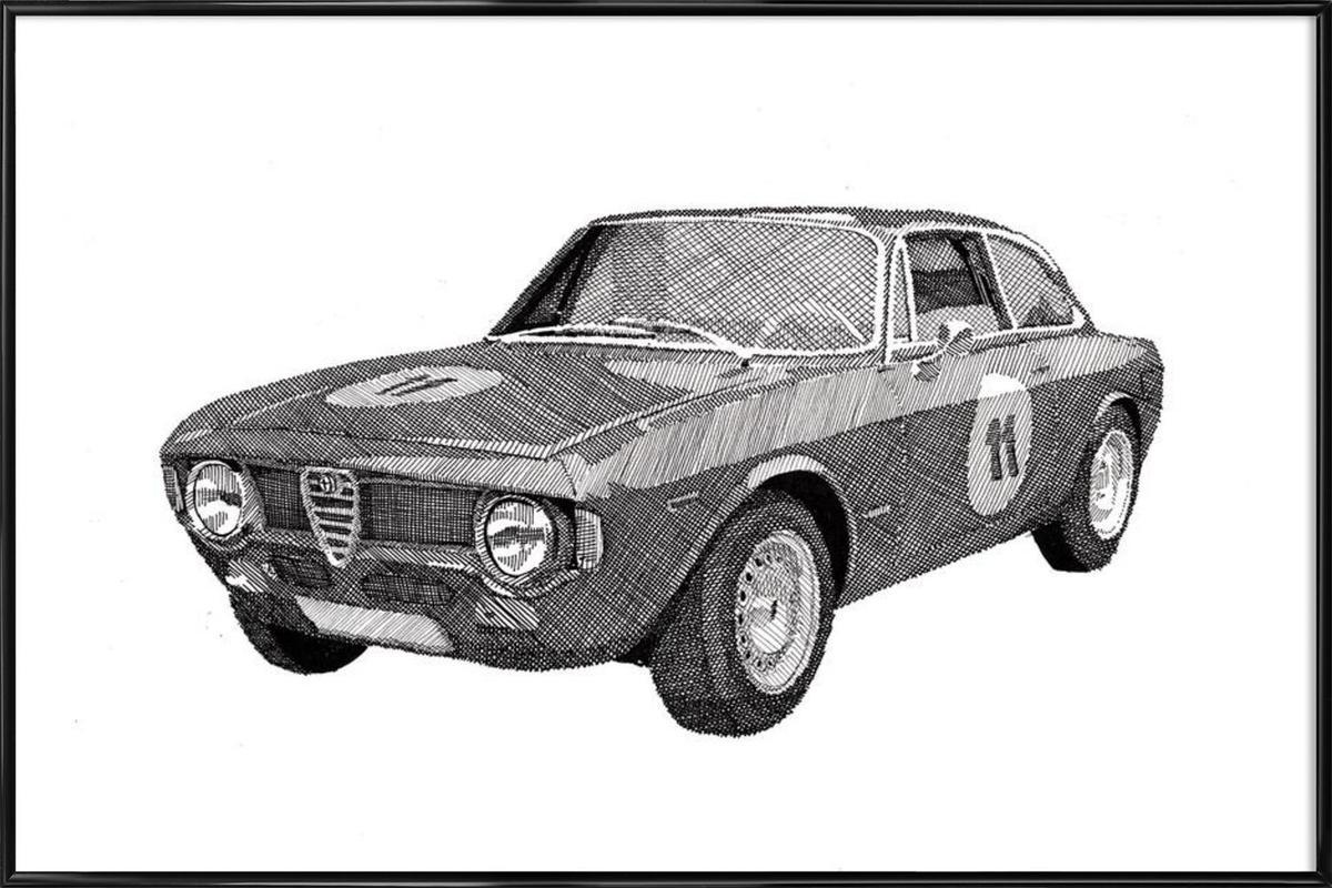Alfa Romeo GT Junior As Poster In Standard Frame JUNIQE - Alfa romeo poster