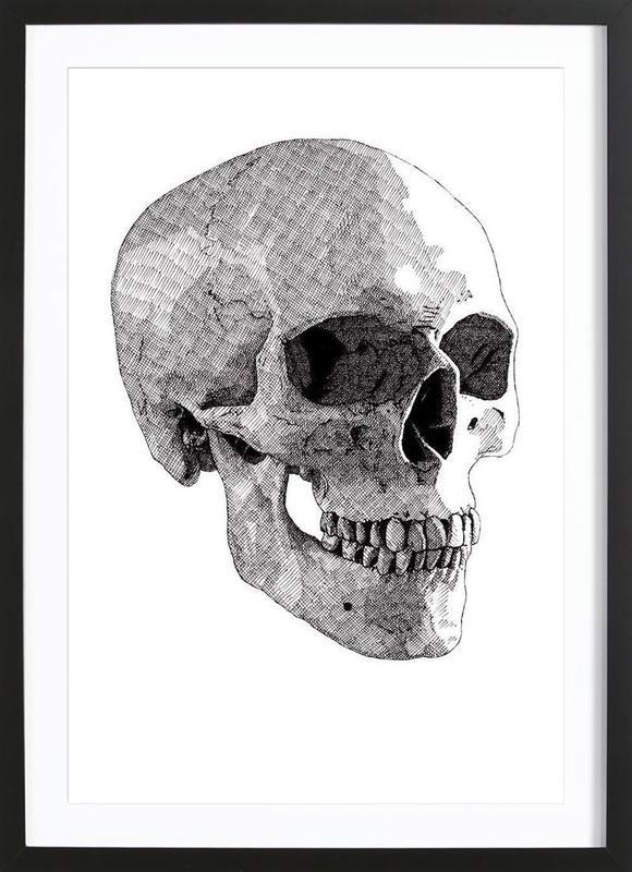 Skull 2 as Poster in Wooden Frame by RikReimert | JUNIQE UK