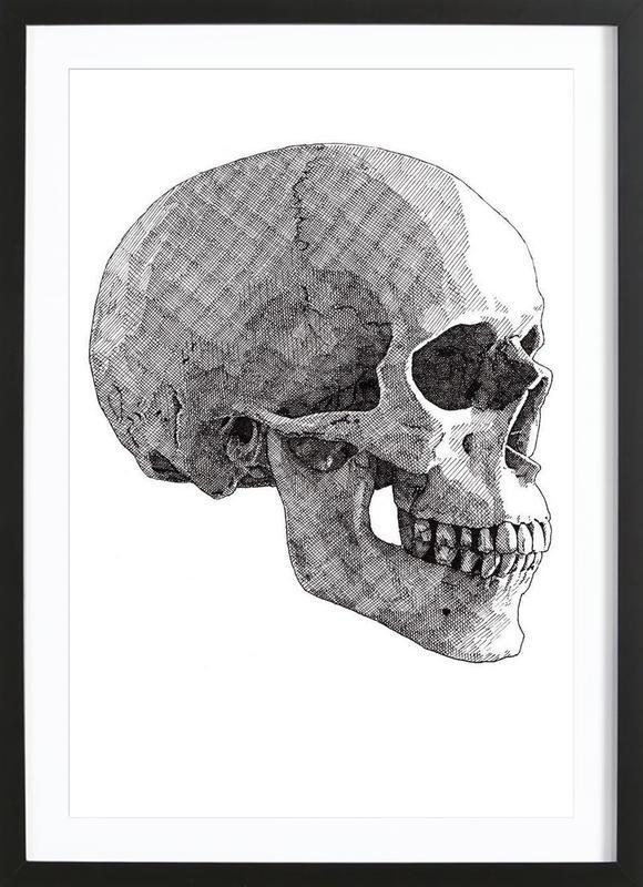 Skull 3 as Poster in Wooden Frame by RikReimert | JUNIQE