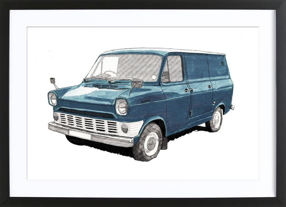 Ford Transit as Poster in Wooden Frame by RikReimert | JUNIQE