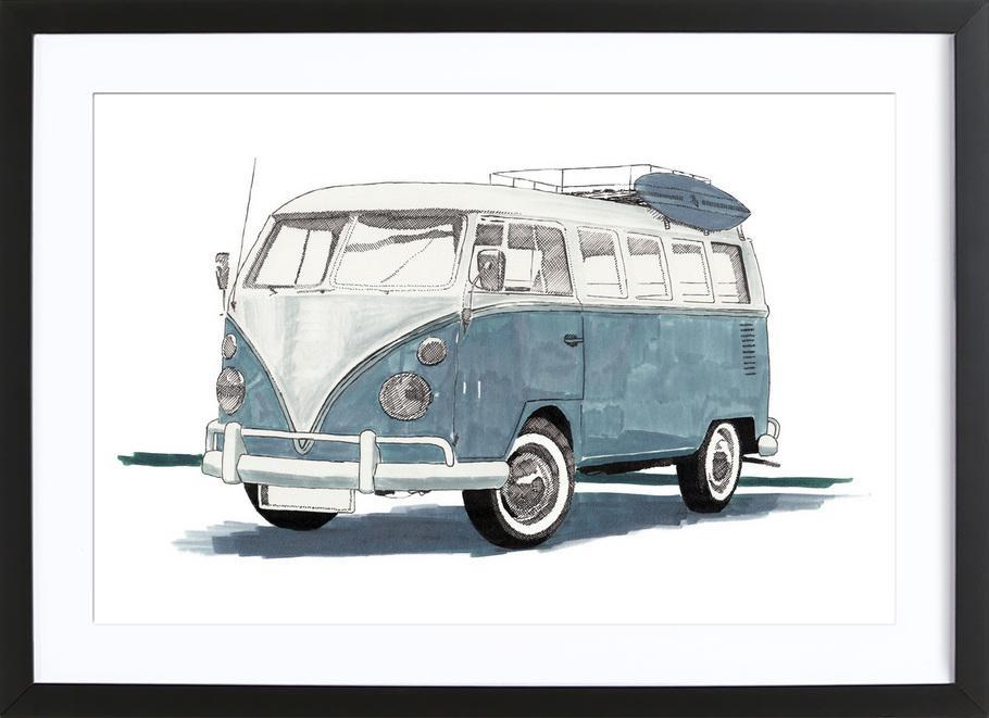 Van as Poster in Wooden Frame by RikReimert | JUNIQE