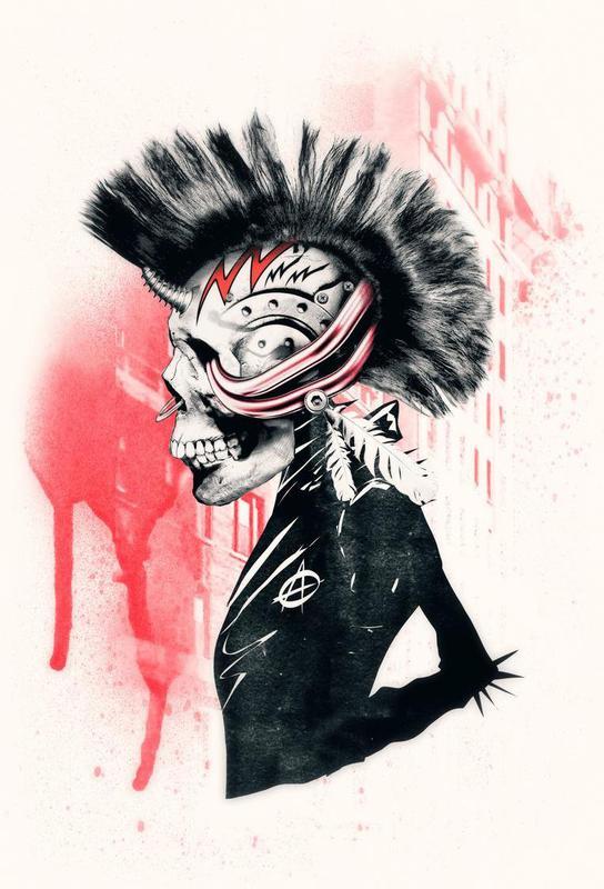 punk as aluminium print by ali gulec juniqe