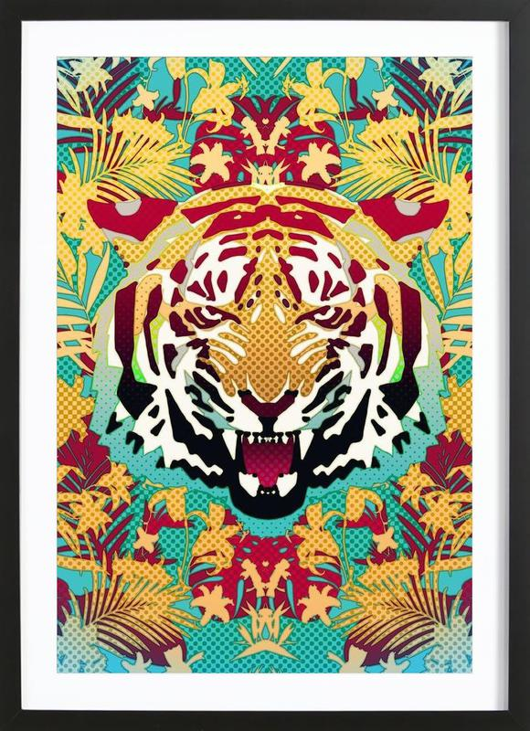Tiger 2 as Poster in Wooden Frame by Ali Gulec | JUNIQE