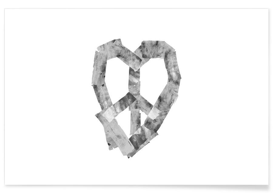 Peace Heart As Premium Poster By Ali Gulec Juniqe