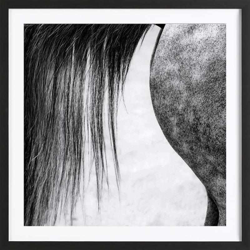 Lines In Black And White Piet Flour As Poster In Wooden Frame Juniqe