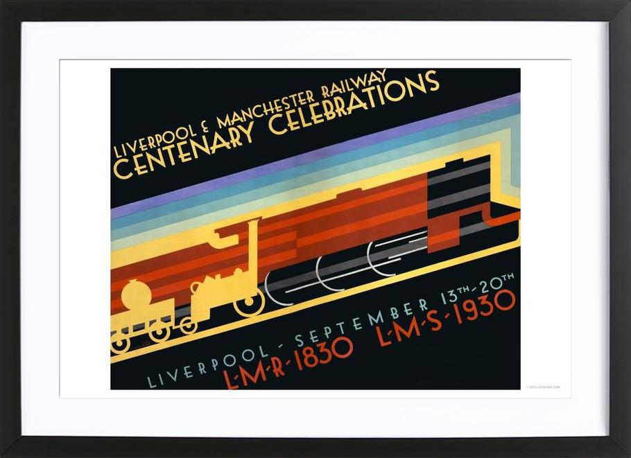 Liverpool & Manchester Railway as Poster in Wooden Frame | JUNIQE UK