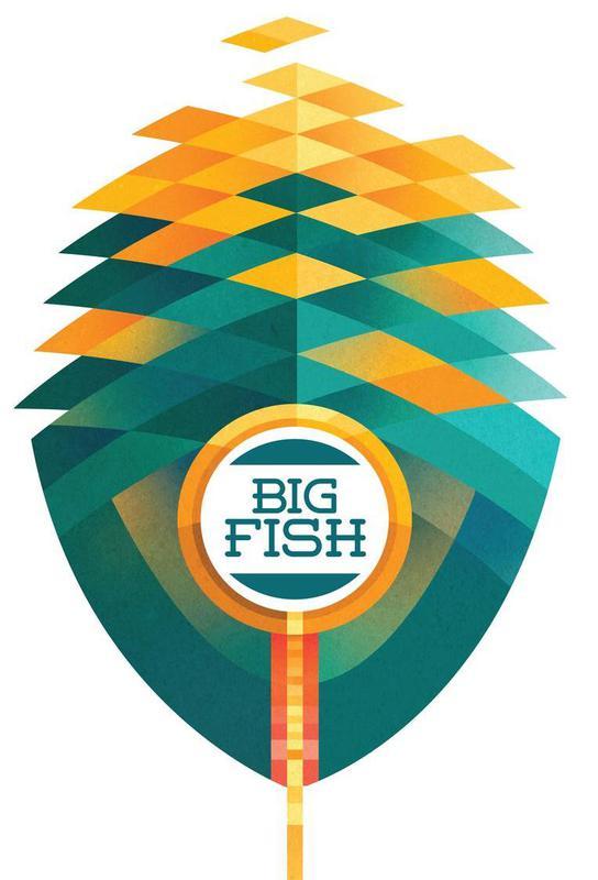 Big fish als acrylglas print door sean loose juniqe for Big fish printing