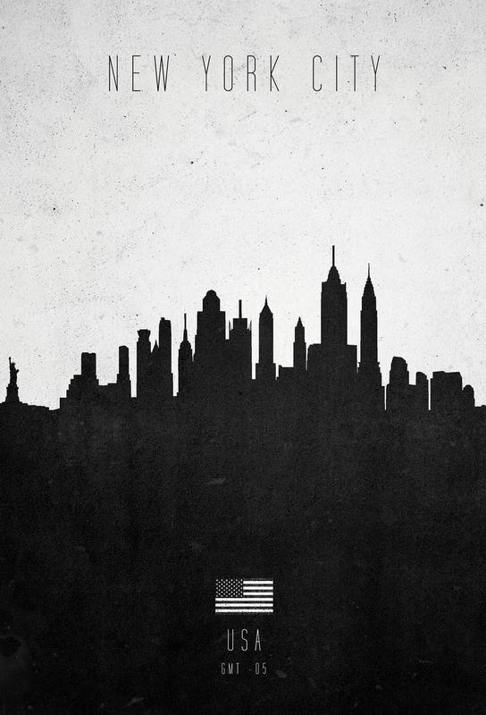new york city contemporary cityscape als acrylglasbild juniqe. Black Bedroom Furniture Sets. Home Design Ideas
