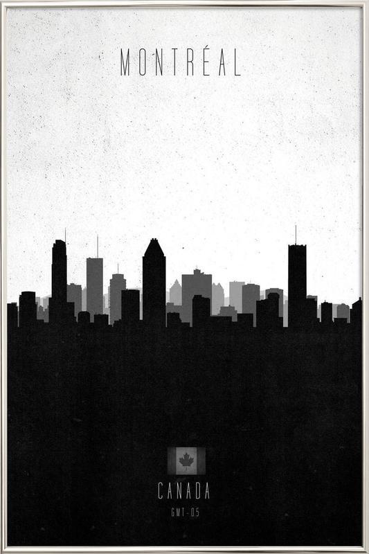 Montreal Contemporary Cityscape As Poster In Aluminium Frame Juniqe
