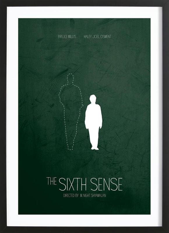 the sixth sense als poster im holzrahmen von calm the ham juniqe ch. Black Bedroom Furniture Sets. Home Design Ideas