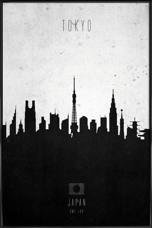 tokyo contemporary cityscape as poster in standard frame juniqe
