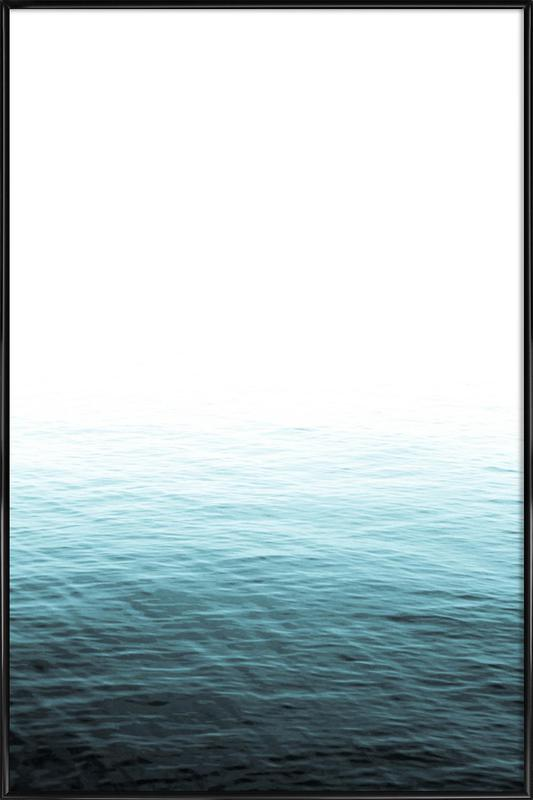Vast Blue Ocean as Poster in Standard Frame by Victoria Frost ...