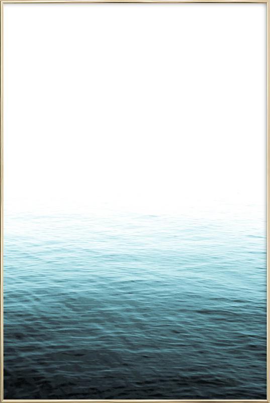 Vast Blue Ocean as Poster in Aluminium Frame | JUNIQE