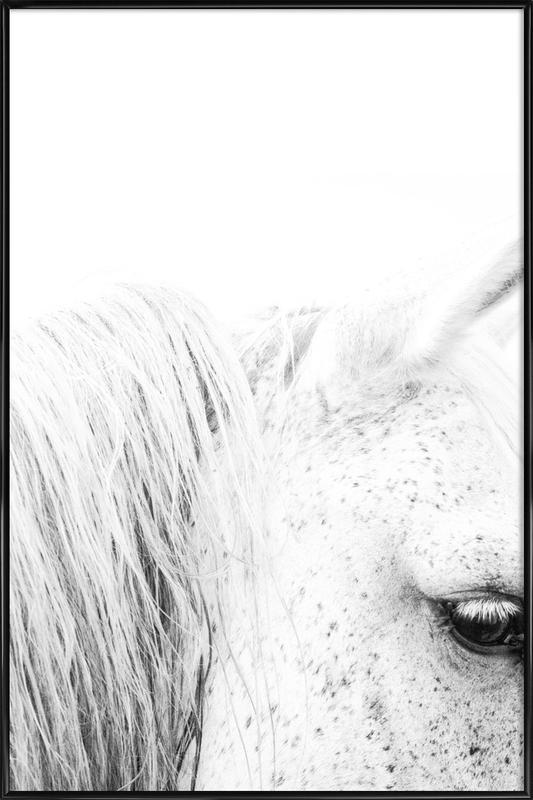 White Horse II as Poster in Standard Frame by Victoria Frost | JUNIQE