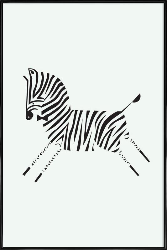 Zebra as Poster in Standard Frame by Patricia Mafra   JUNIQE