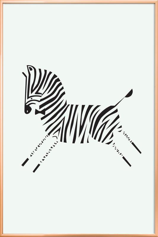 Zebra as Poster in Aluminium Frame by Patricia Mafra   JUNIQE UK