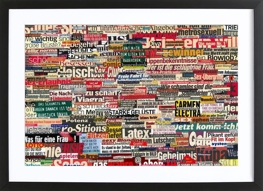 Headlines, 2005 as Poster in Wooden Frame | JUNIQE