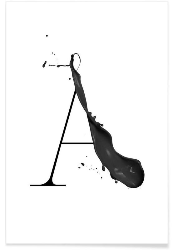 Artsy a as premium poster by typealive juniqe uk