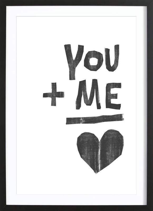 You And Me As Poster In Wooden Frame By Typealive Juniqe Uk
