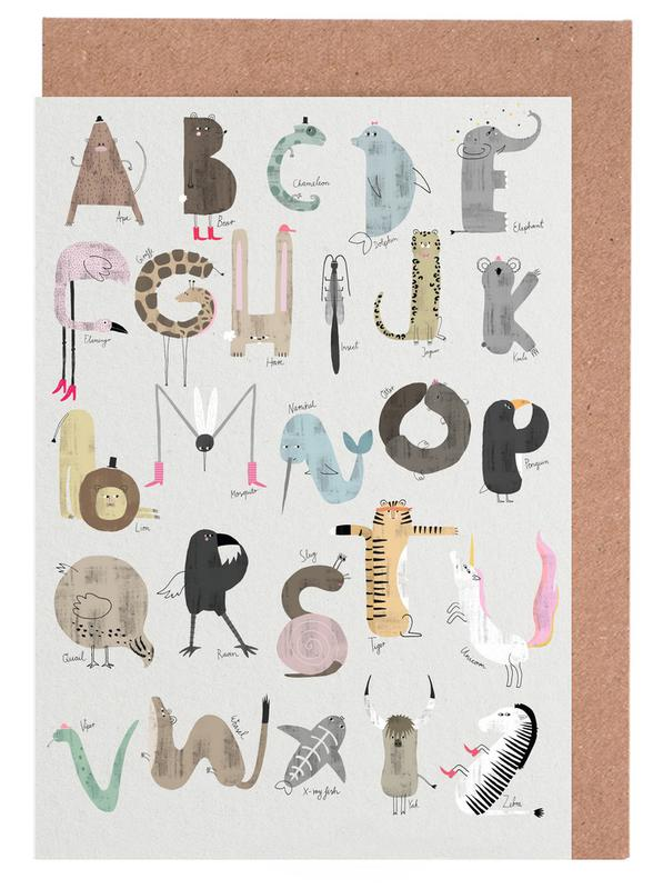 Abc kids english as greeting card set by typealive juniqe m4hsunfo