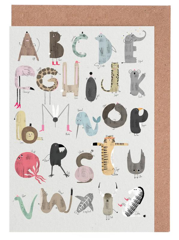 Abc kids as greeting card set by typealive juniqe m4hsunfo