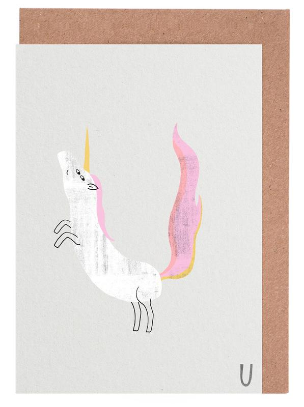 Abc kids unicorn as greeting card set by typealive juniqe uk home stationery greeting cards m4hsunfo