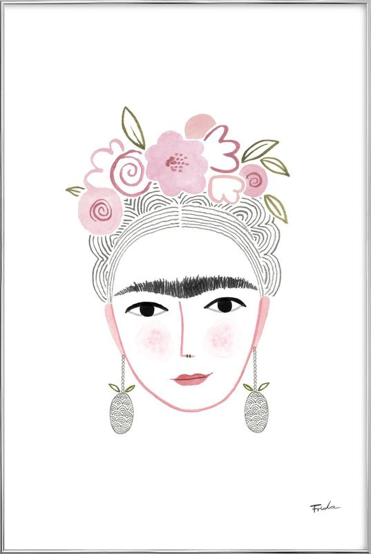 Frida Kahlo as Poster in Aluminium Frame by typealive | JUNIQE