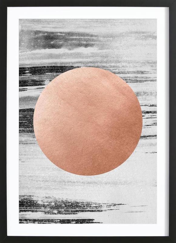 rose gold 1 en affiche sous cadre en bois par leemo juniqe. Black Bedroom Furniture Sets. Home Design Ideas