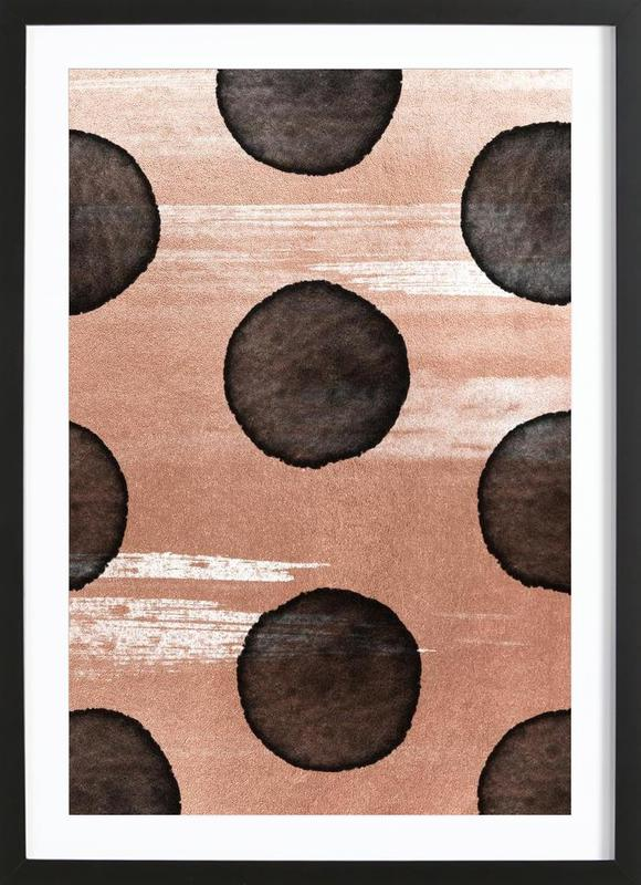 rose gold 2 als poster im holzrahmen von leemo juniqe. Black Bedroom Furniture Sets. Home Design Ideas