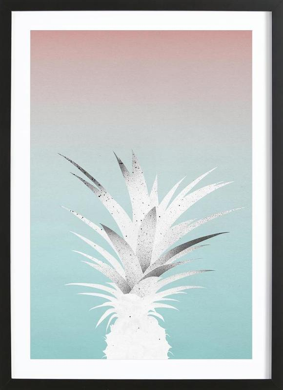 ananas comosus als poster im holzrahmen von leemo juniqe. Black Bedroom Furniture Sets. Home Design Ideas