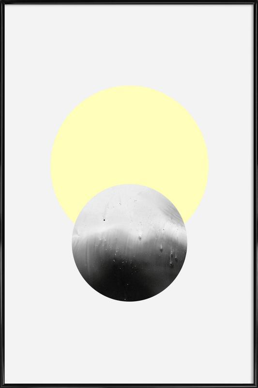 Sun Moon As Poster In Standard Frame By Leemo Juniqe