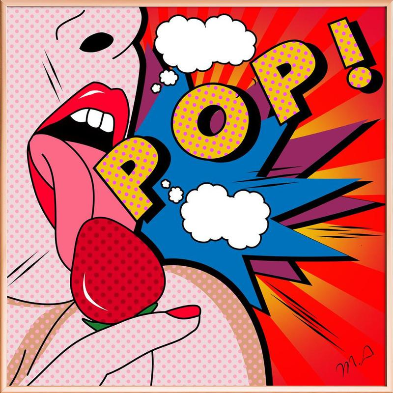 Pop als Poster im Alurahmen von Mark Ashkenazi | JUNIQE