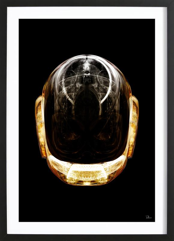 84912d79ef19 Daft Gold as Poster in Wooden Frame by RUBIANT