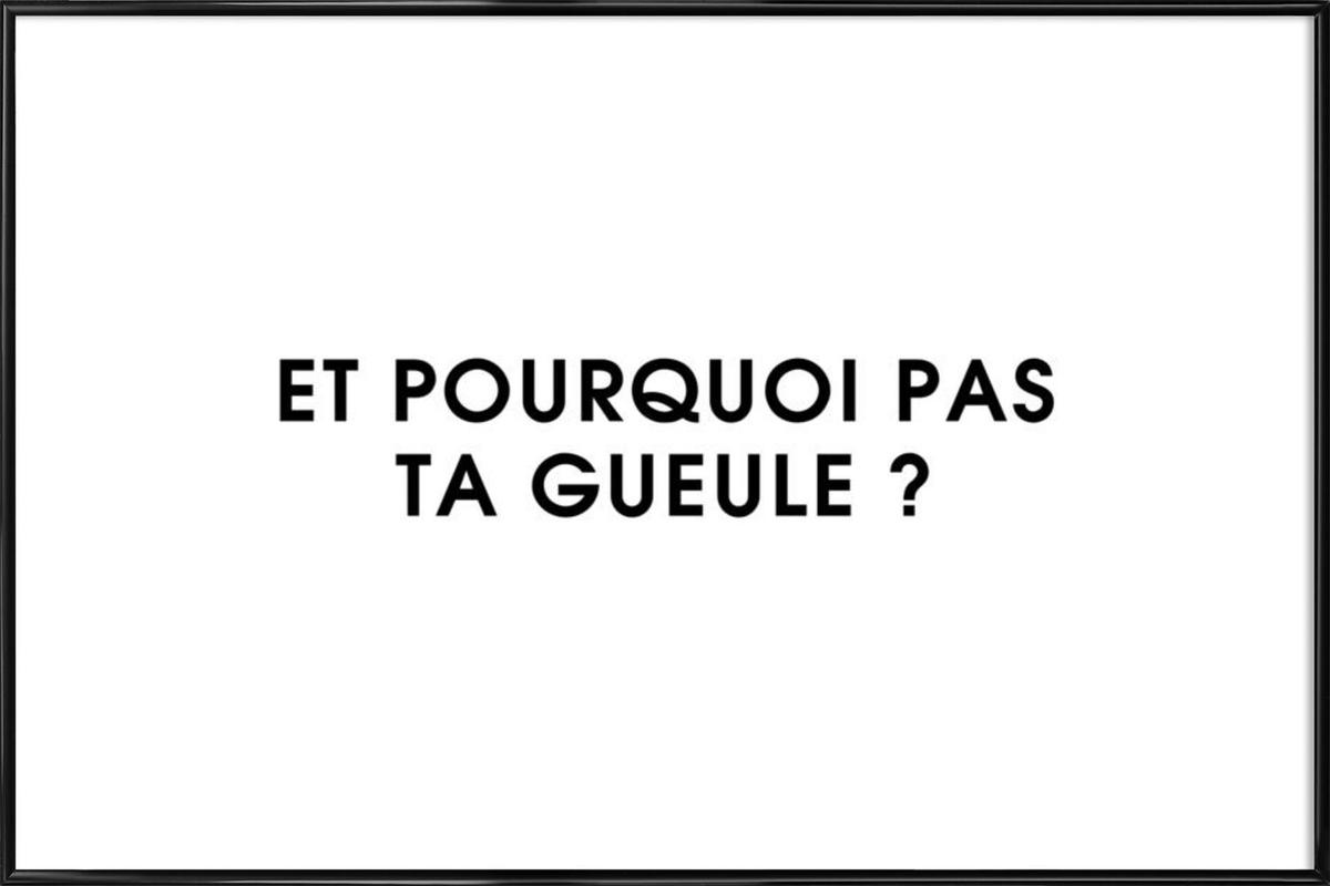Et pourquoi pas ta gueule ? - White as Poster in Standard Frame | JUNIQE