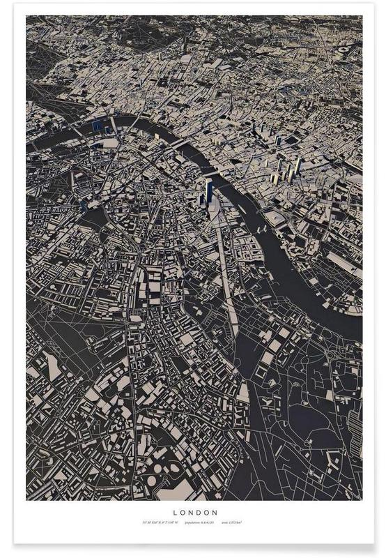 London City Map As Poster By Maptastix Juniqe