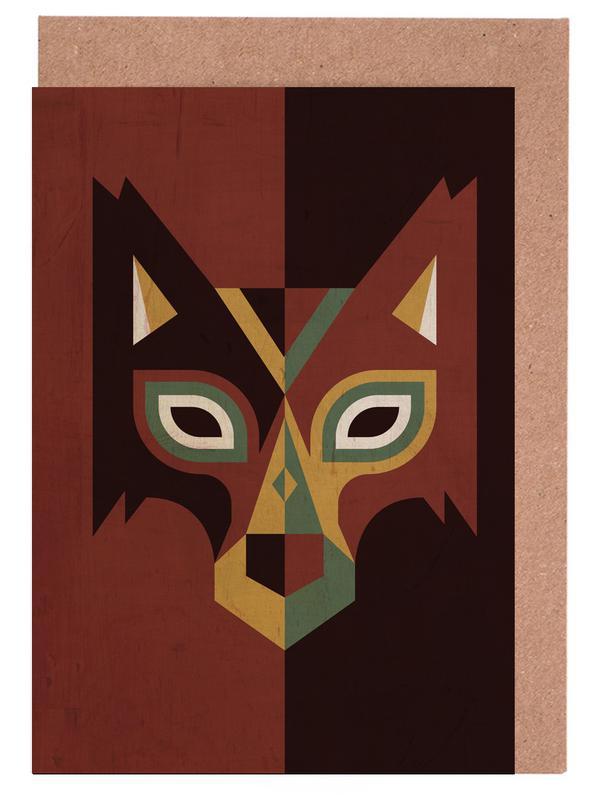 a8e64d488c40 Wolf as Greeting Card Set by Oscar Odd Diodoro