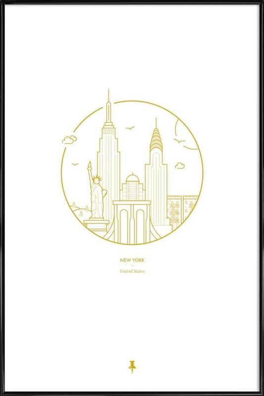 New York as Poster in Standard Frame by Dean Robert Smith | JUNIQE