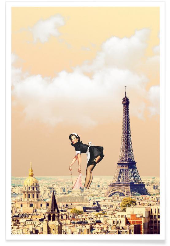 Paris Pinup as Premium Poster by Jason Brueck | JUNIQE