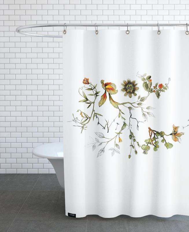 grow with me als duschvorhang von la scarlatte juniqe ch. Black Bedroom Furniture Sets. Home Design Ideas
