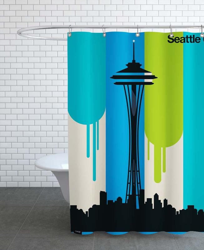 Seattle 62 As Shower Curtain By Bo Lundberg