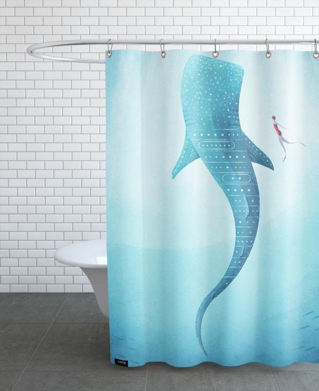 Whale Shark As Shower Curtain By Henry Rivers | JUNIQE