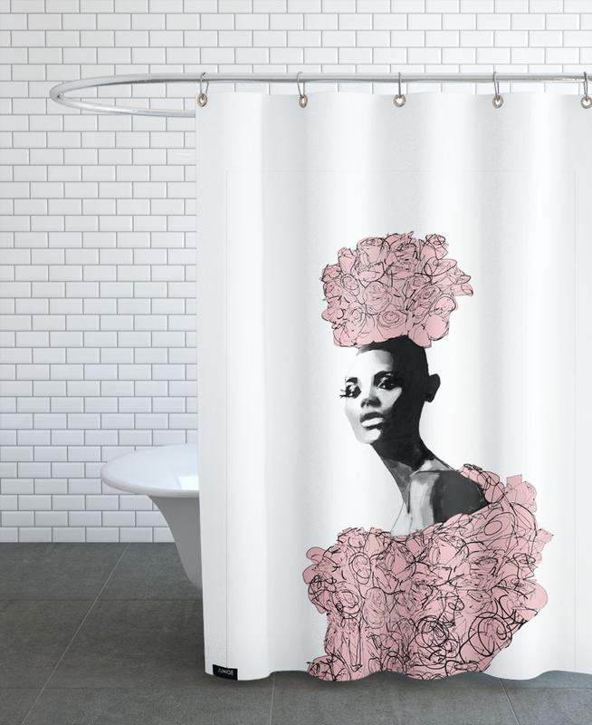 katie rose als duschvorhang von peytil juniqe. Black Bedroom Furniture Sets. Home Design Ideas