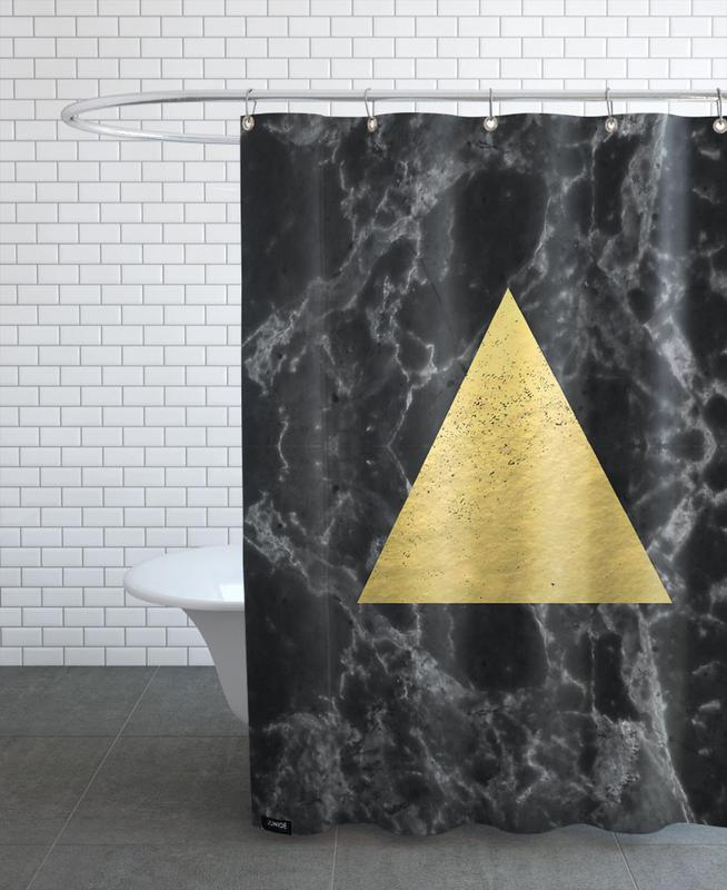Black Gold Marble As Shower Curtain By Charlotte Winter