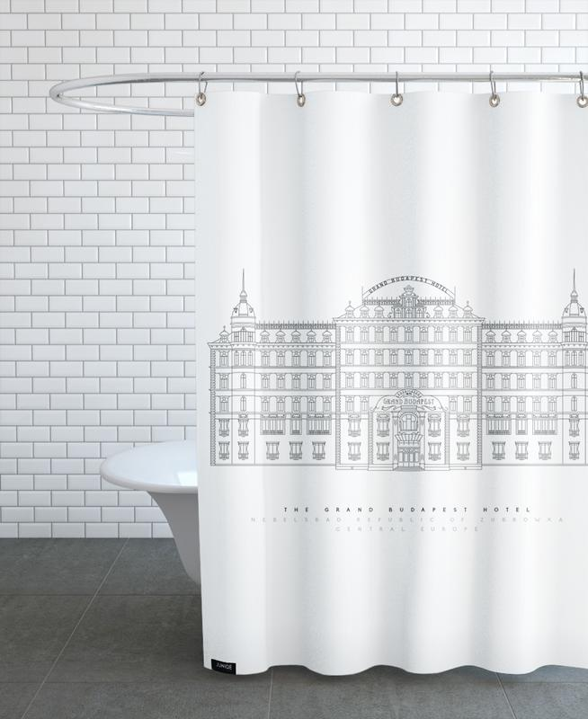 Grand Budapest Hotel Shower Curtain